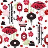 Japanisches nahtloses Muster Stockbilder