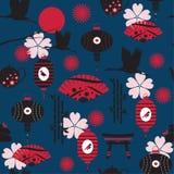 Japanisches nahtloses Muster Stockfoto
