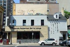 Japanisches Restaurant-Bar in historischem Chinatown, Boston Lizenzfreies Stockfoto