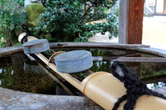 Japanisches Schöpflöffelwasser Stockbilder