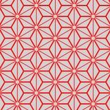 Japanisches Silber und rotes geometrisches Muster Stockbild