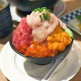 Japanisches Sushi-Reis bowDeluxe Bakumori Don Lizenzfreie Stockbilder