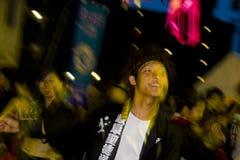 Japanisches Tänzerfestival stockbilder