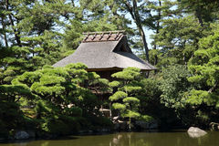 Japanisches Tee-Haus Stockfoto