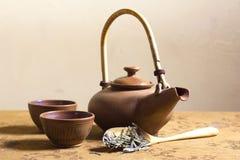 Japanisches Tee-Satz-Stillleben Stockfotos
