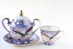 Japanisches Teeset Stockfotografie