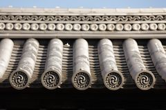 Japanisches Tempeldach Stockfotos