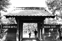 Japanisches Tempeltor Stockfotos