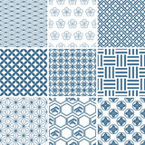 Japanisches traditionelles Musterset Lizenzfreie Stockbilder
