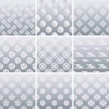 Japanisches traditionelles silbernes Muster vektor abbildung