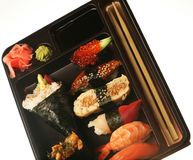 Japanisches traditionelles Sushiset Lizenzfreie Stockfotografie