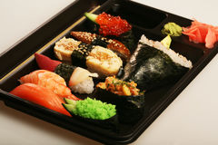 Japanisches traditionelles Sushiset Lizenzfreies Stockfoto