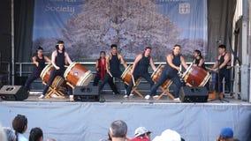 Japanisches Trommel-Band stock footage