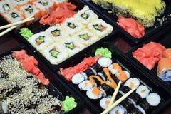 Japanisches und asiatisches Lebensmittel Lizenzfreie Stockfotografie