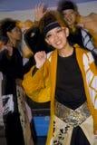 Japanisches weibliches Tänzerfestival Stockbild