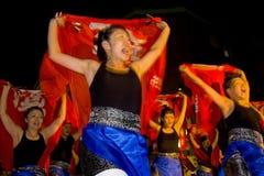 Japanisches weibliches Tänzerfestival maturi Lizenzfreie Stockbilder