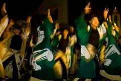 Japanisches weibliches Tänzerfestival maturi Lizenzfreies Stockfoto