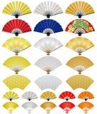 Japanner die ventilators vouwen. stock illustratie