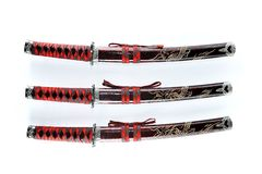 Japannese Tanto swords set Royalty Free Stock Image