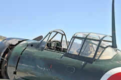 Japannollcockpit arkivbild