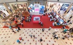 Japans近畿地方的介绍在Suria KLCC购物中心,瓜拉的 免版税库存照片
