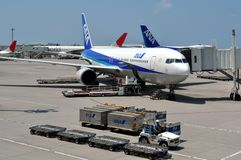 Japans ANEKDOTEN Fluglinien Lizenzfreie Stockfotografie