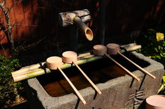Japans Bamboe fontains Stock Afbeeldingen