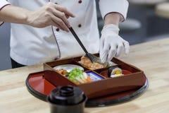 Japans Bento Preparing royalty-vrije stock foto