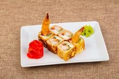 Japans broodje met garnaal stock afbeelding