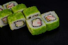 Japans broodje met garnaal royalty-vrije stock afbeeldingen
