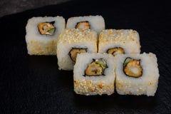 Japans broodje met garnaal royalty-vrije stock fotografie