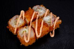 Japans broodje met garnaal stock foto