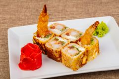 Japans broodje met garnaal royalty-vrije stock afbeelding