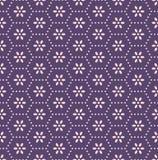 Japans Cherry Blossom Hexagon Pattern stock illustratie