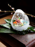 Japans decorative food. Japans  food in ice form with sakura Stock Photo