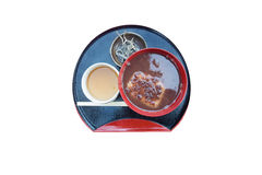 Japans Dessert met witte achtergrond (isolate) stock afbeelding
