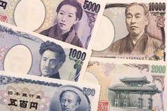 Japans geld een bedrijfsachtergrond stock fotografie