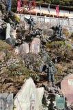 Japans Godsidool in tempel Royalty-vrije Stock Foto