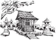 Japans heiligdom stock illustratie