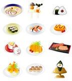 Japans het voedselpictogram van het beeldverhaal royalty-vrije illustratie