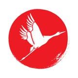 Japans kraansilhouet Vector Royalty-vrije Stock Fotografie