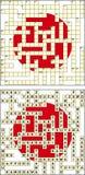Japans kruiswoordraadsel Royalty-vrije Stock Afbeeldingen