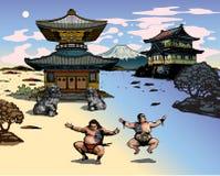 Japans landschap Stock Afbeeldingen