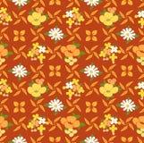 Japans Leuk Oranje Bloem Naadloos Patroon royalty-vrije illustratie