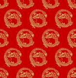 Japans Lucky Dragon Seamless Pattern stock illustratie
