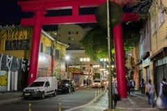 Japans monument in oostelijke Braziliaanse buurt 2018 stock foto's