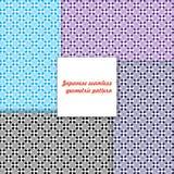 Japans naadloos geometrisch patroon. Stock Fotografie