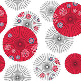 Japans paraplu naadloos patroon vector illustratie