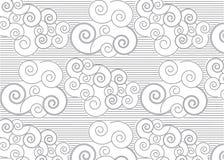 Japans patroon met wolken Royalty-vrije Stock Foto's