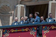 Japans Prinz Naruhito - Salamanca -13-06-2013 Lizenzfreies Stockbild